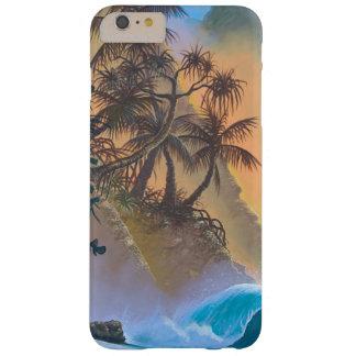 Resaca de la playa de la bahía de Hanalei Funda De iPhone 6 Plus Barely There