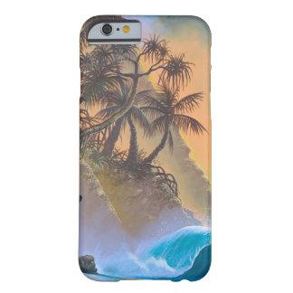Resaca de la playa de la bahía de Hanalei Funda De iPhone 6 Barely There