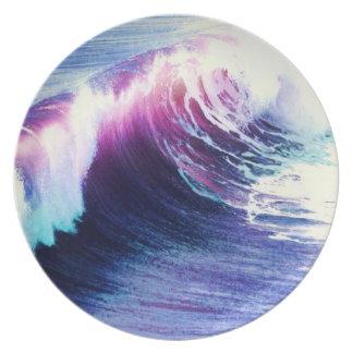 Resaca de la playa plato