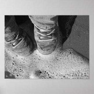 Resaca de las zapatos tenis posters