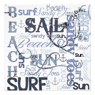 Resaca de Sun de la vela de la playa