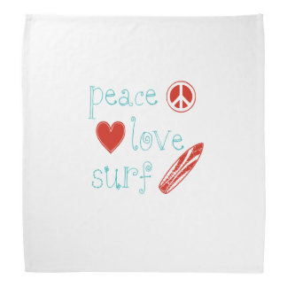 Resaca del amor de la paz bandana