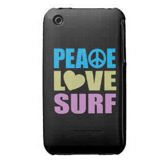 Resaca del amor de la paz iPhone 3 Case-Mate cárcasa