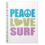 Resaca del amor de la paz libretas