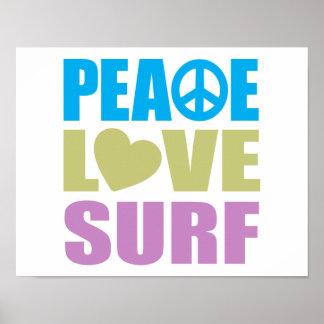 Resaca del amor de la paz póster