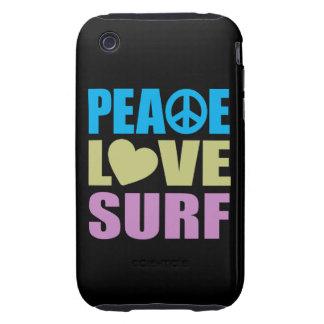 Resaca del amor de la paz tough iPhone 3 carcasa