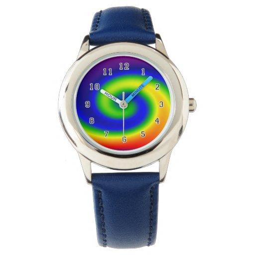 Resaca del arco iris reloj de mano