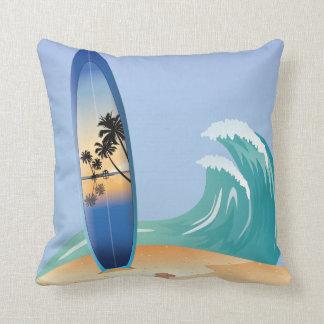 Resaca del verano y almohada de la playa