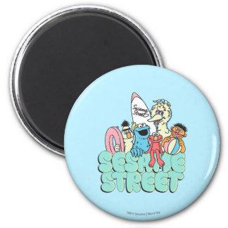 resaca del vintage del Sesame Street de los años Imán Redondo 5 Cm