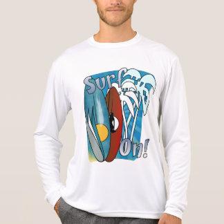Resaca en camiseta de manga larga de la Micro-Fibr Polera