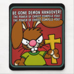 Resaca enojada Mousepad del demonio del conejito Tapetes De Raton