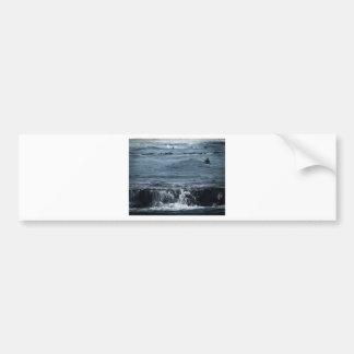 Resaca escénica de Oceanview de las olas oceánicas Pegatina De Parachoque