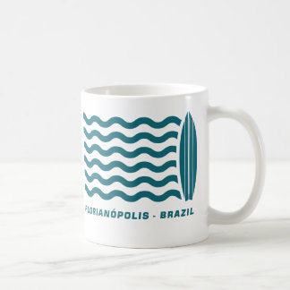 Resaca Florianopolis el Brasil Taza Clásica