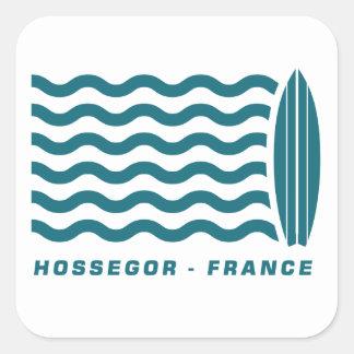 Resaca Hossegor Francia Pegatina Cuadrada