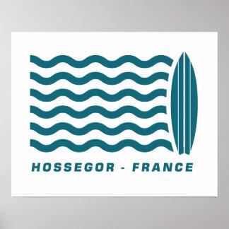 Resaca Hossegor Francia Póster