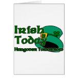 Resaca irlandesa tarjeta