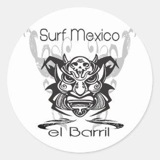 Resaca limitada México del barril X Pegatina Redonda