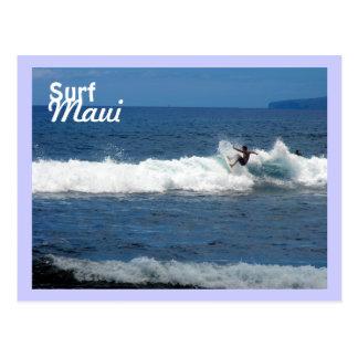 Resaca Maui, playa de Olowalu, Lahaina, Hawaii Tarjetas Postales