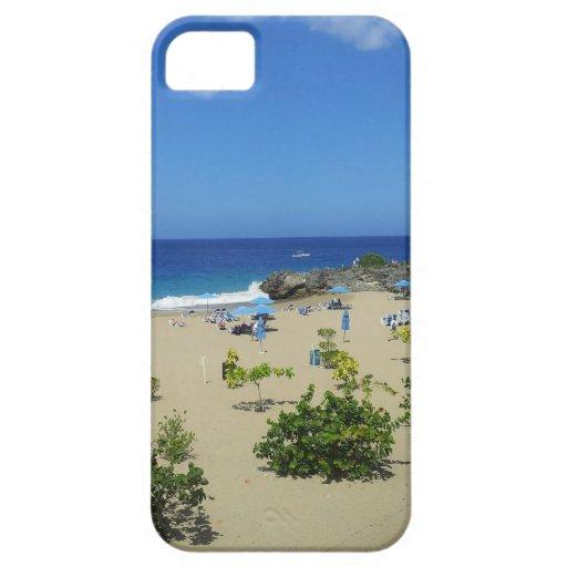 RESACA OC DE LA REPÚBLICA DOMINICANA DE LA PLAYA iPhone 5 PROTECTORES