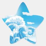 Resaca para arriba calcomanía forma de estrella personalizada