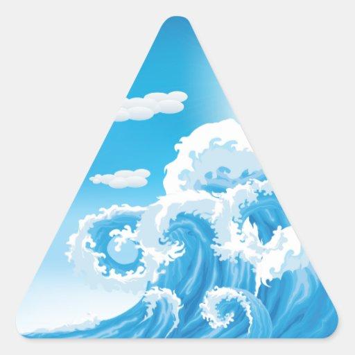 Resaca para arriba pegatinas trianguloes