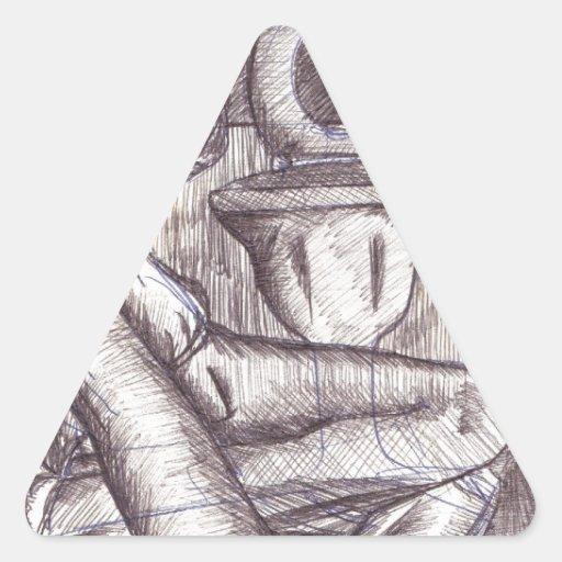 Resaca Pegatina Triangular