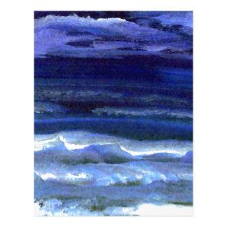 Resaca reservada de la playa del océano de la membrete