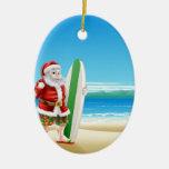 Resaca Santa en la playa Ornamento Para Reyes Magos