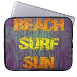 Resaca Sun de la playa Funda Computadora