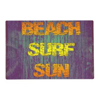 Resaca Sun de la playa Tapete Individual