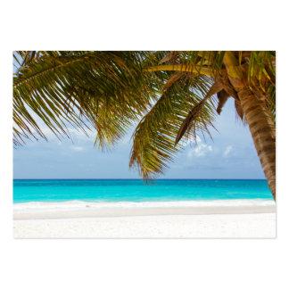 resaca tropical de la arena del agua de la playa tarjetas de visita grandes