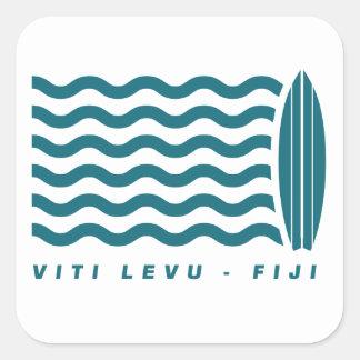 Resaca Viti Levu Fiji Pegatina Cuadrada