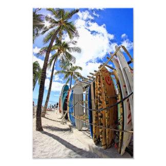 Resaca y Sun Waikiki Impresión Fotográfica