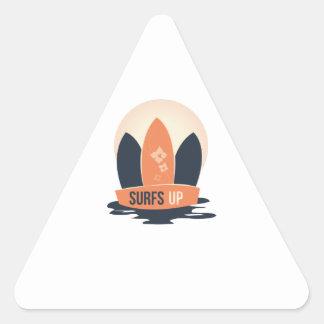 Resacas para arriba pegatina triangular