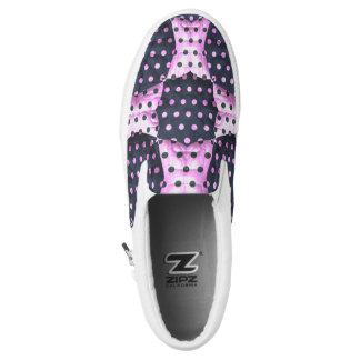 Resbalón rosado/azul del modelo del edredón del zapatillas