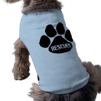 Rescatado - camiseta del perrito playera sin mangas para perro
