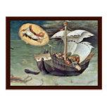 Rescate a los marineros de Gentile da Fabriano Postal