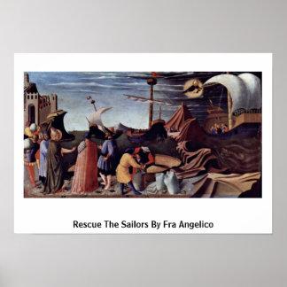 Rescate a los marineros por Fra Angelico Póster
