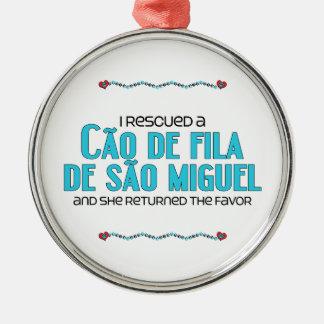 Rescaté a un Cão de Fila de São Miguel el perro f Ornamento De Navidad