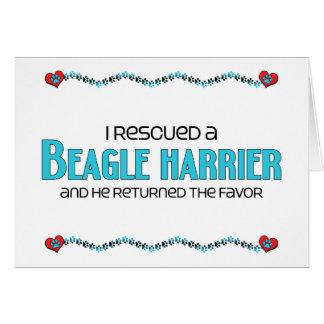 Rescaté a un corredor de cross del beagle (el perr tarjeta de felicitación
