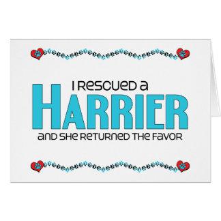 Rescaté a un corredor de cross (el perro femenino) tarjeta de felicitación