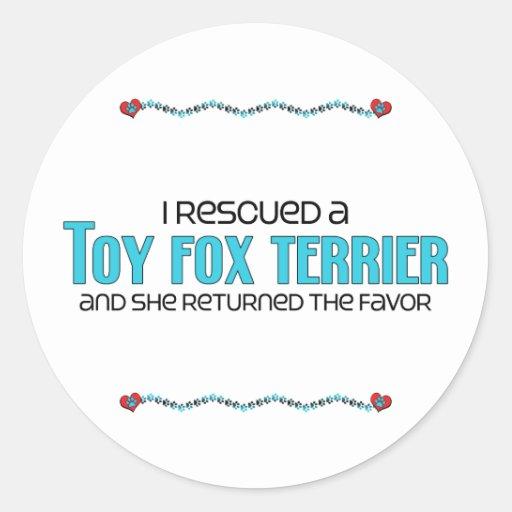 Rescaté a un fox terrier del juguete (el perro fem pegatinas