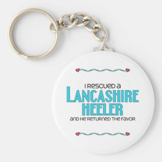 Rescaté a un Lancashire Heeler (el perro masculino Llavero Redondo Tipo Pin