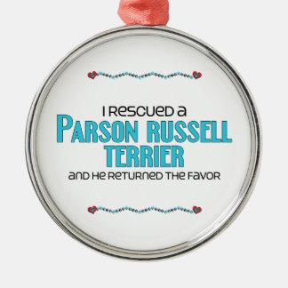Rescaté a un párroco Russell Terrier (el perro Ornamento De Navidad