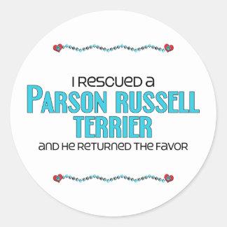 Rescaté a un párroco Russell Terrier (el perro Pegatina Redonda
