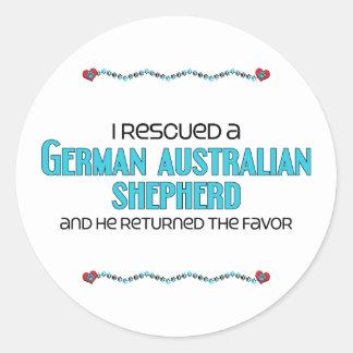 Rescaté a un pastor australiano alemán (el perro etiquetas redondas