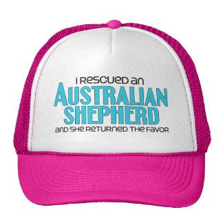Rescaté a un pastor australiano (el perro femenino gorras