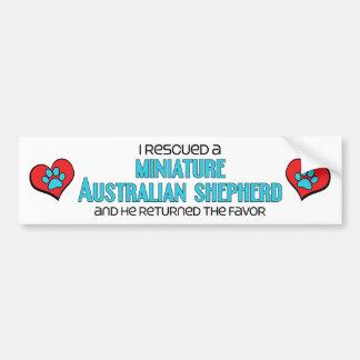 Rescaté a un pastor australiano miniatura (el varó pegatina para auto