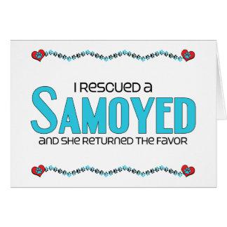 Rescaté a un samoyedo (el perro femenino) tarjeta