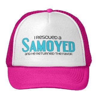 Rescaté a un samoyedo (el perro masculino) gorras de camionero